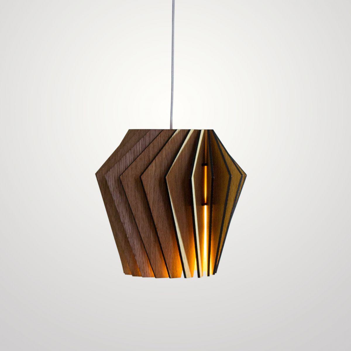 Турболампа из дуба, средняя - подвесной светильник