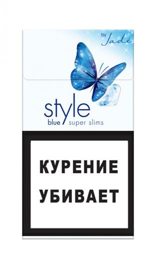 Сигареты Style Super Slims Blue Jade