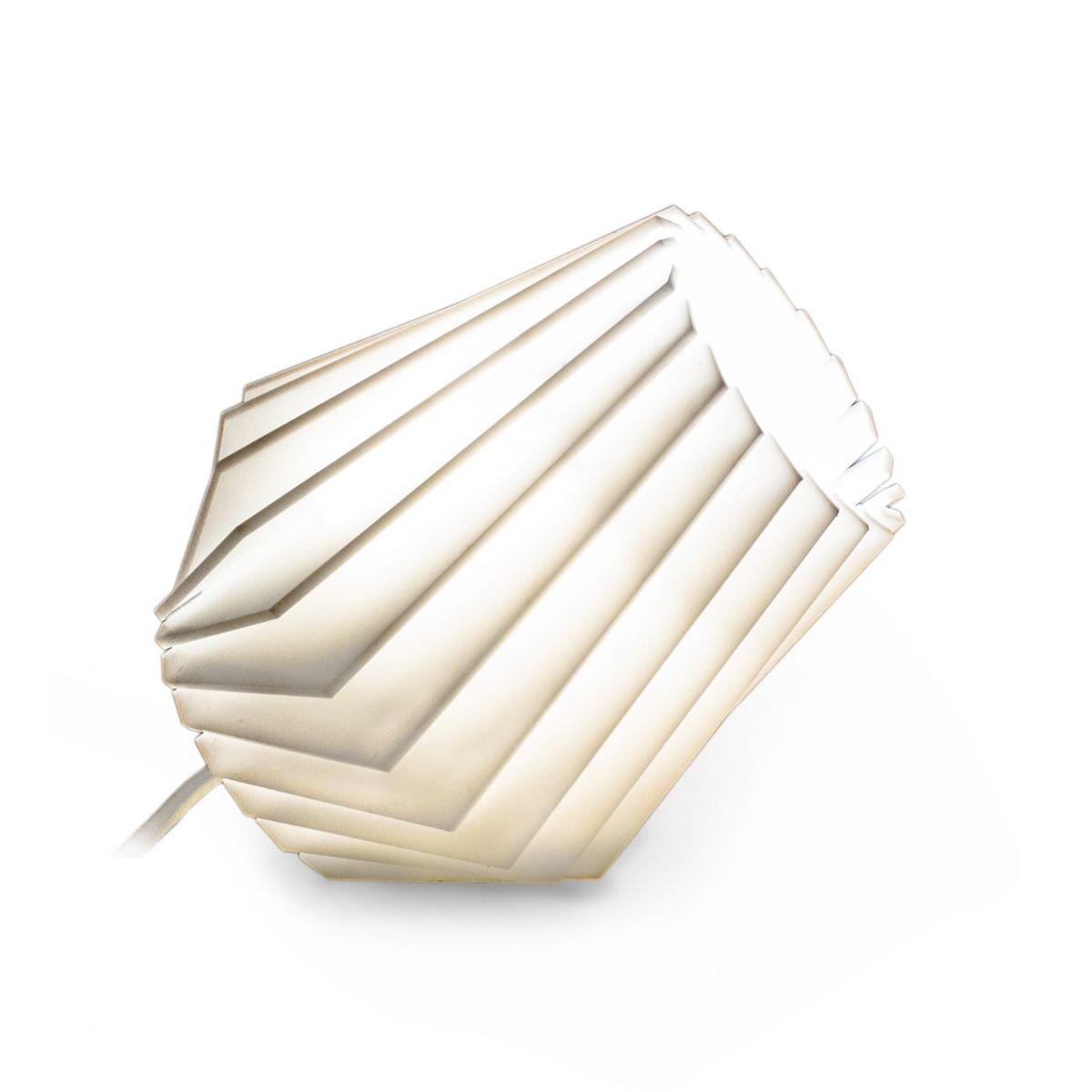 Турболампа из белого акрилового стекла, маленькая (подвесной/настольный светильник)