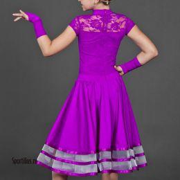 Платье для спортивных танцев с гипюром