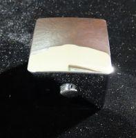 Ручка переключения режимов смесителя квадратная пластик хром на шлицах
