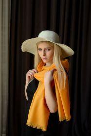 """легкий тонкорунный экстра широкий шарф  """"Клементин """" Clementine Merino Tartan 100% шерсть мериноса,   плотность 2"""