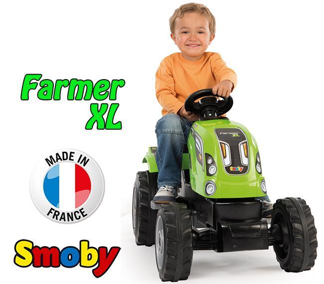 Трактор педальный XL с прицепом Smoby 710111