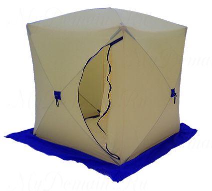 Палатка СТЭК КУБ 2, трехслойная (брезент)