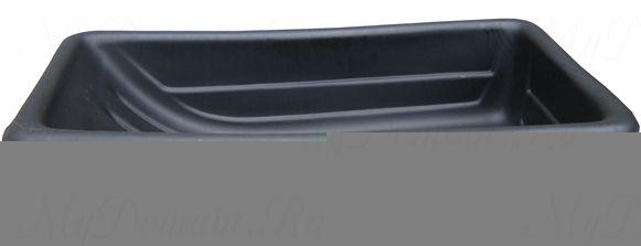 Сани рыбацкие (пласт. корыто) № 5/2 850х450х220 черный