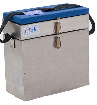 Ящик СТЭК алюминиевый 2 секции, 22л, 380х300х190 (1,0mm)