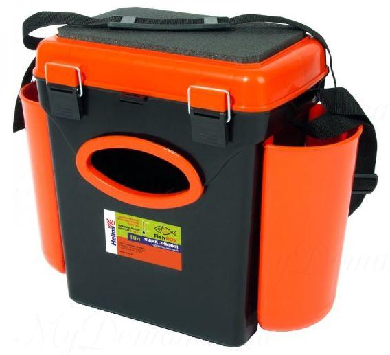 """Ящик зимний Helios """"FishBox"""", односекционный 10 л, оранжевый"""