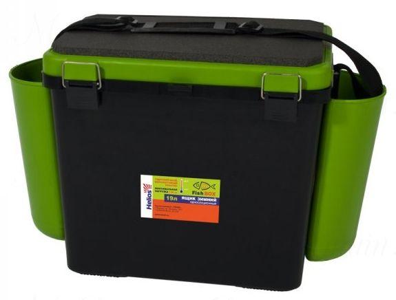"""Ящик зимний Helios """"FishBox"""", односекционный 19 л, зеленый"""