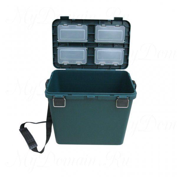 Ящик зимний ТОНАР + односекционный, пластиковый 380х320х260 см 19 л, зеленый