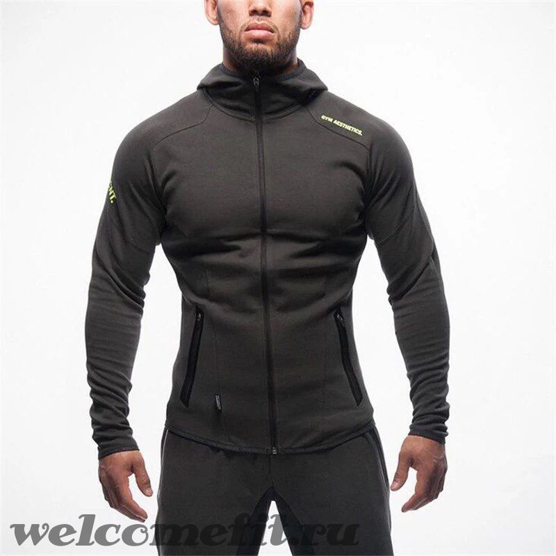 Muscle Fit Zipper Black