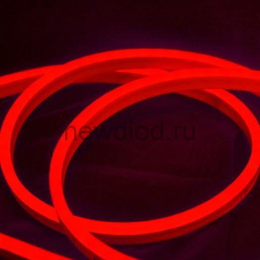 Неон мини  (Led Neon Flex) SMD 2835/120 LED 8*16 мм 220V MAX 7W/M  (красный цвет)