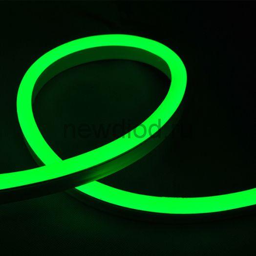 Неон мини  (Led Neon Flex) SMD 2835/120 LED 8*16 мм 220V MAX 7W/M  (зеленый цвет)