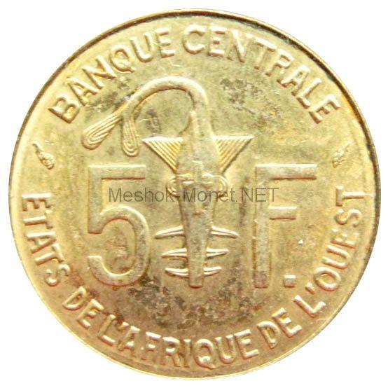 Западно-Африканский союз 5 франков 1984 г.