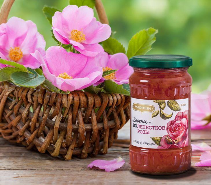 Варенье из лепестков розы 450г