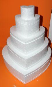 """Основа торт-муляж """"Сердце"""" 49 см, пенопласт (1уп = 2шт)"""