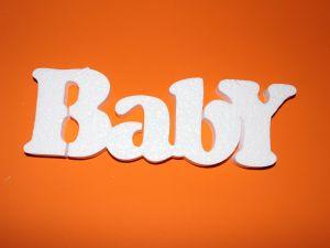 """Слово """"Baby"""" 30 см, пенопласт (1уп = 2шт)"""