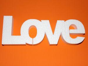 """Слово """"Love"""" 30 см, пенопласт (1уп = 2шт)"""