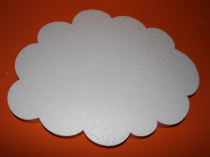 "`Фигурка ""Облако"" 45 см, толщина 35 мм, пенопласт, Арт. Р-ПП01323"