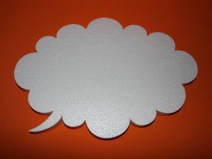 "`Фигурка ""Облако"" 45 см, толщина 35 мм, пенопласт, Арт. Р-ПП01322"
