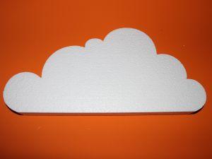 "`Фигурка ""Облако"" 45 см, толщина 35 мм, пенопласт, Арт. Р-ПП01320"