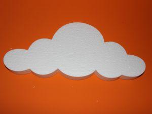 "`Фигурка ""Облако"" 45 см, толщина 35 мм, пенопласт, Арт. Р-ПП01319"