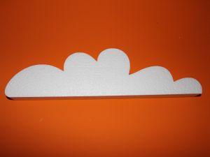 "`Фигурка ""Облако"" 45 см, толщина 35 мм, пенопласт, Арт. Р-ПП01317"
