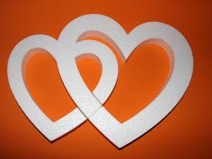 "Фигурка ""Сердце двойное"" 45 см, толщина 35 мм, пенопласт (1уп = 2шт), Арт. ПП12100"