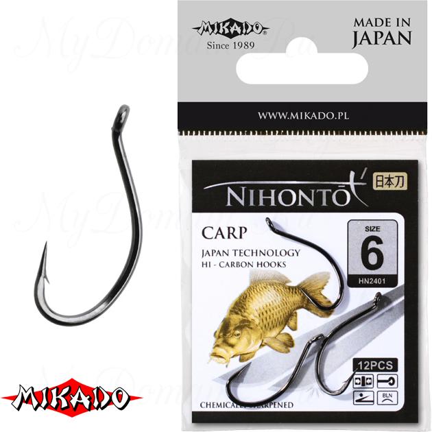 Крючки Mikado NIHONTO - CARP № 4 BN (с ушком) уп.=10 шт., упак