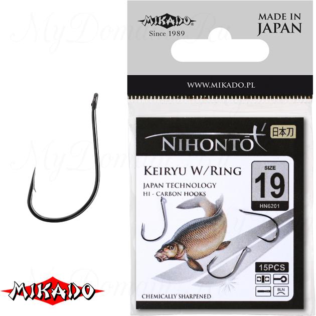 Крючки Mikado NIHONTO - KEIRYU W/RING № 6 BN (с ушком) уп.=14 шт., упак