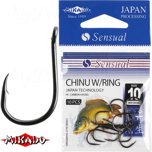 Крючки Mikado SENSUAL - CHINU W/RING № 6 BN (с ушком) уп.=10 шт., упак