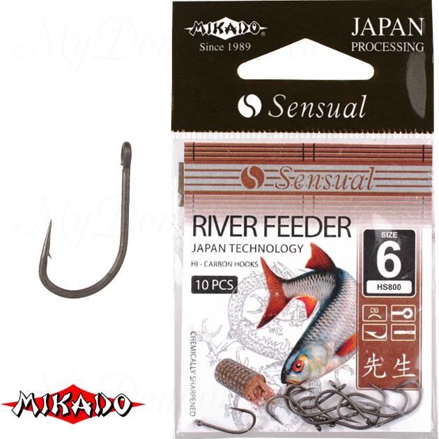Крючки Mikado SENSUAL - RIVER FEEDER № 12 DB (с ушком) уп.=10 шт., упак