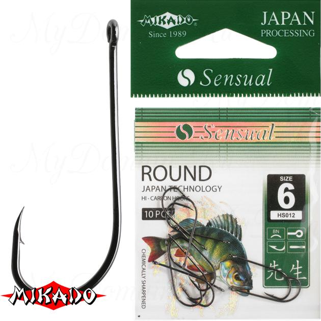 Крючки Mikado SENSUAL - ROUND № 8 BN (с ушком) уп.=10 шт., упак