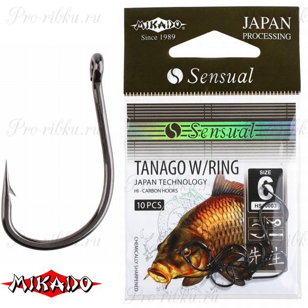 Крючки Mikado SENSUAL - TANAGO W/RING № 8 BN (с ушком) уп.=10 шт., упак