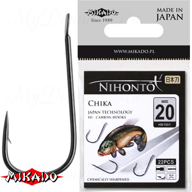 Крючки Mikado NIHONTO - CHIKA № 12 BN (с лопаткой) уп.=21 шт., упак