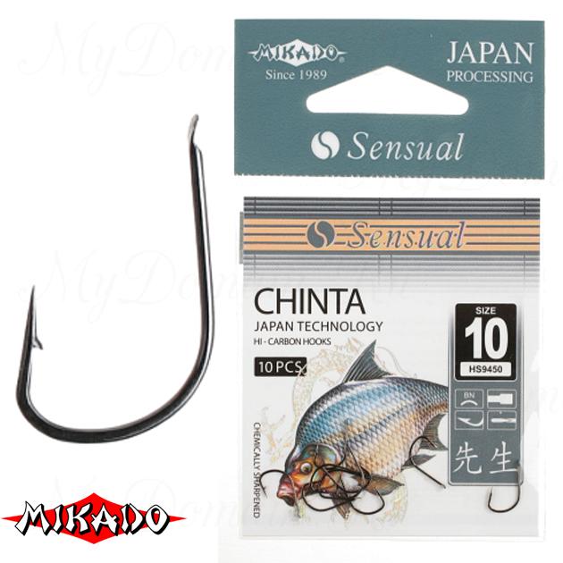 Крючки Mikado SENSUAL - CHINTA № 10 BN (с лопаткой) уп.=10 шт., упак