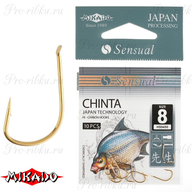 Крючки Mikado SENSUAL - CHINTA № 12 G (с лопаткой) уп.=10 шт., упак