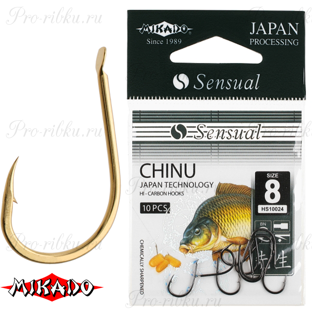 Крючки Mikado SENSUAL - CHINU № 6 BN (с лопаткой) уп.=10 шт., упак