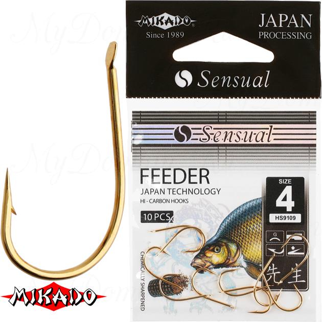 Крючки Mikado SENSUAL - FEEDER № 14 BN (с лопаткой) уп.=10 шт., упак