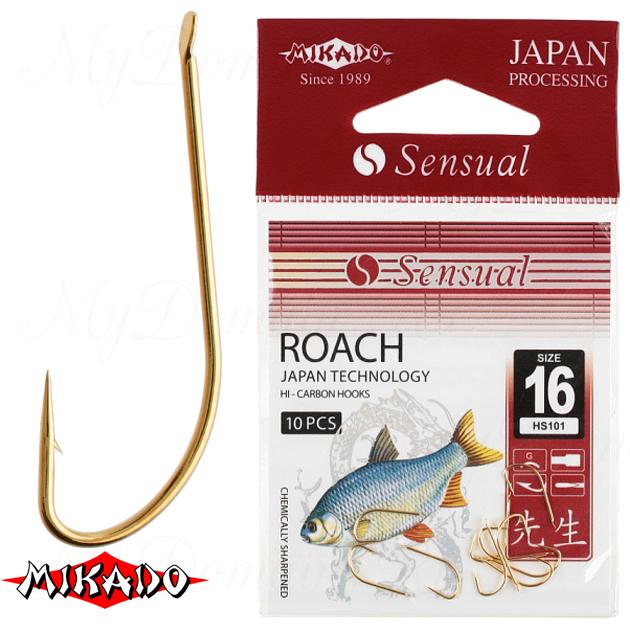 Крючки Mikado SENSUAL - ROACH № 14 G (с лопаткой) уп.=10 шт._1, упак