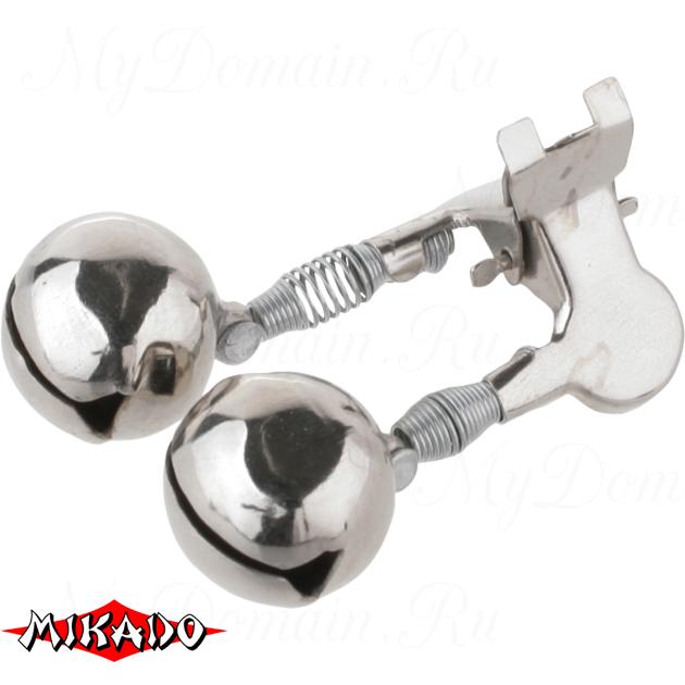 Сигнализатор поклёвки двойной бубенчик Mikado с прищепкой AMR02-1197-14  уп.=10 шт., упак
