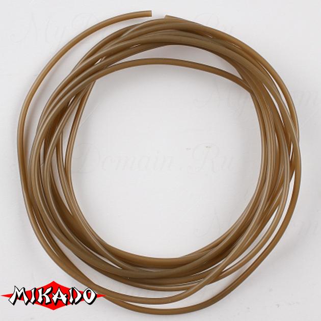 Балластная трубка-антизакручиватель Mikado 1.0 x 2.0 мм. 2 м. (коричневый), шт