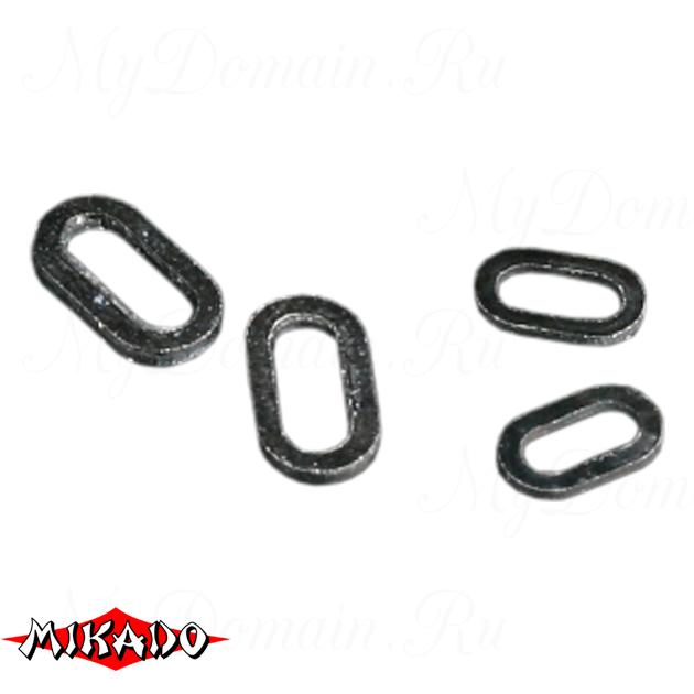 Кольцо Mikado овальной формы 6.0 мм. (черный) уп.=25 шт., упак