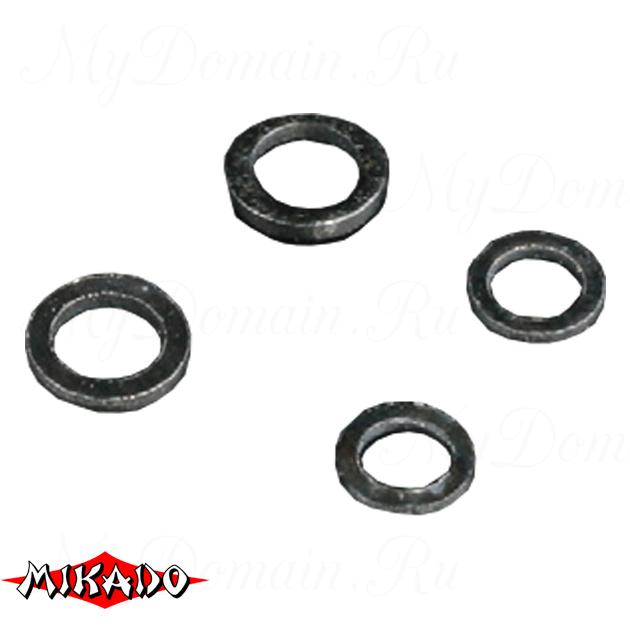 Кольцо Mikado тороидальной формы 3.7 мм. (черный) уп.=25 шт., упак