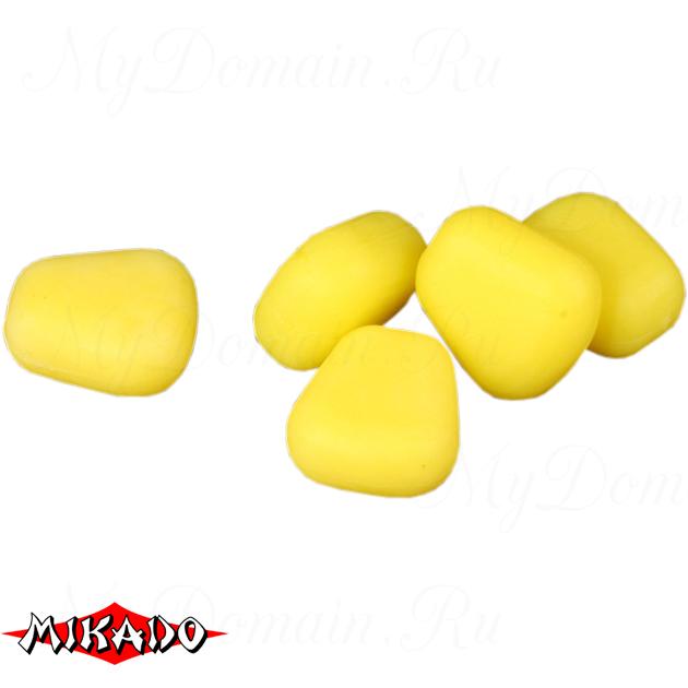 Кукуруза полиуретановая Mikado всплывающая (желтая)  уп.=15 шт., упак