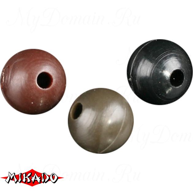 Силиконовые шарики Mikado 6 мм. (черный)  уп.=25 шт., упак
