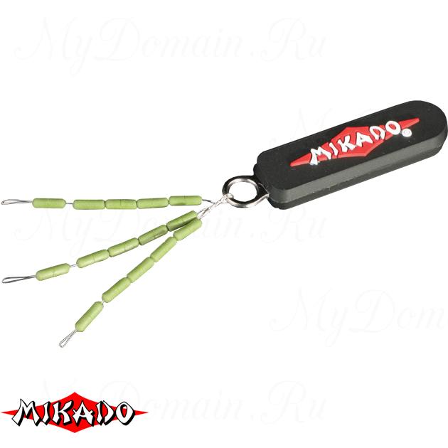 Стоппоры для бойлов Mikado тонущие (зелёный), шт