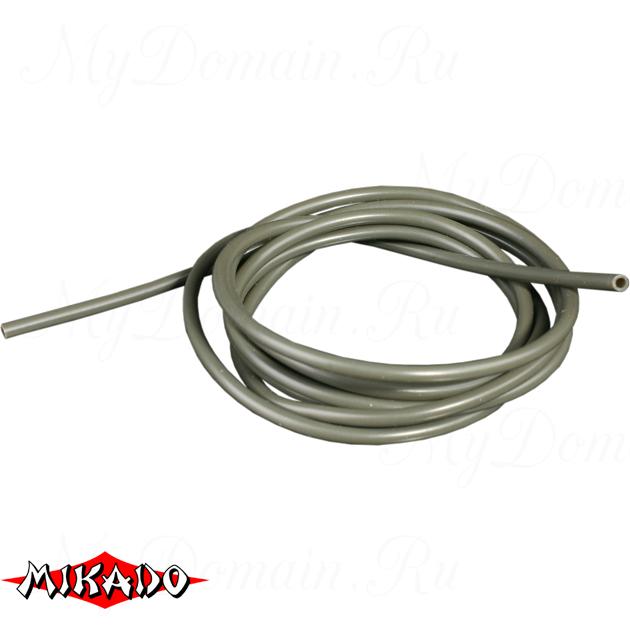 Трубка силиконовая Mikado 1,0 х 2,0 мм х 1 м, серо-зелёная, шт