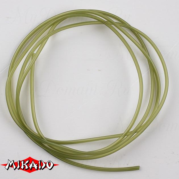 Трубка-антизакручиватель Mikado ПВХ 1.0 x 2.1 мм. 1 м. (зелёный-прозрачный), шт