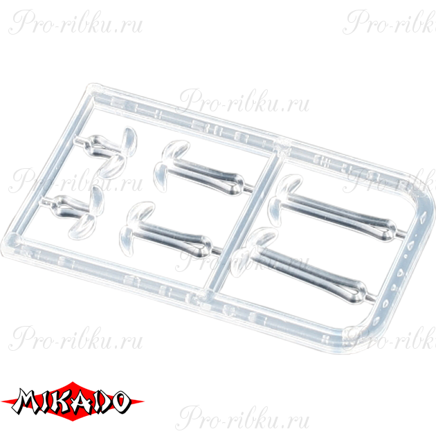 Фиксаторы для крепления бойлов Mikado S/M/L (прозрачные) AMC-9051-01  уп.=2 шт., упак