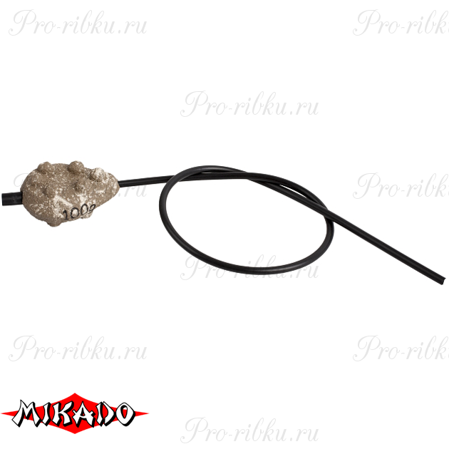 Грузило карповое сменное Mikado скользящее с антизакручивателем. плоское (песочный) 24S  80 г.  уп.=, упак